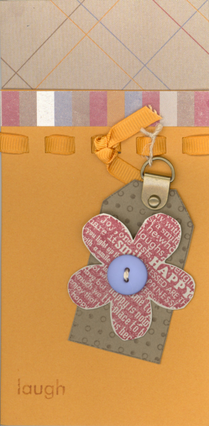 Cute card with hanging tab