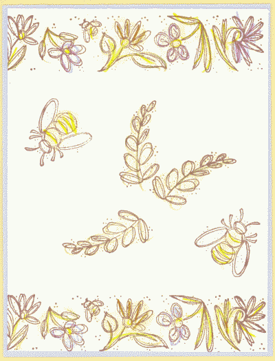 greeting card with bees