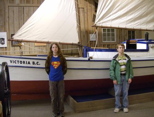 The tilikum dugout boat