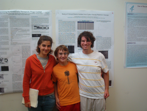 students and their poster