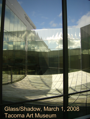 The couryard of the Tacoma Art Museum