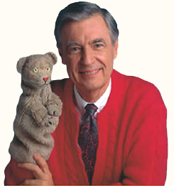 Mr. Rogers and Daniel Striped Tiger
