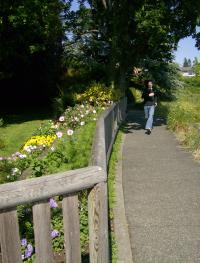 running along a path