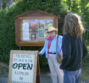 The entrance to the Filberg Gardens
