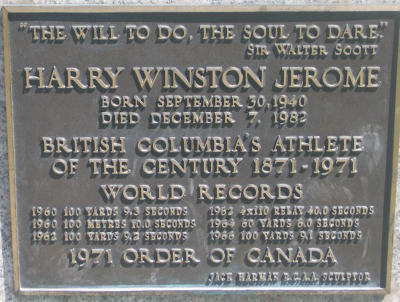 plaque for statue