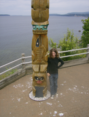 This totem at Powell River was quite tall