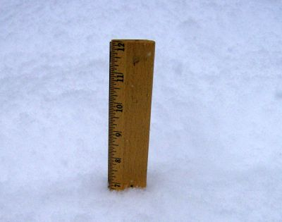 almost 7 inches of snow on the ground at 3:30 pm