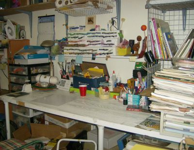 the workbench, the stack of papers on the right needs sorting, otherwise done!
