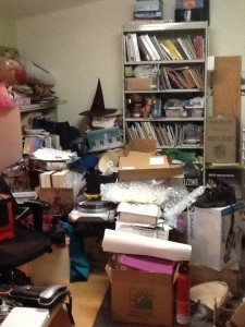 Many empty boxes removed, still 2/3 to sort through!