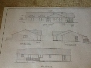 the house elevations, as planned