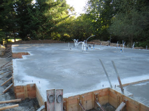 September 11, 2013, foundation poured